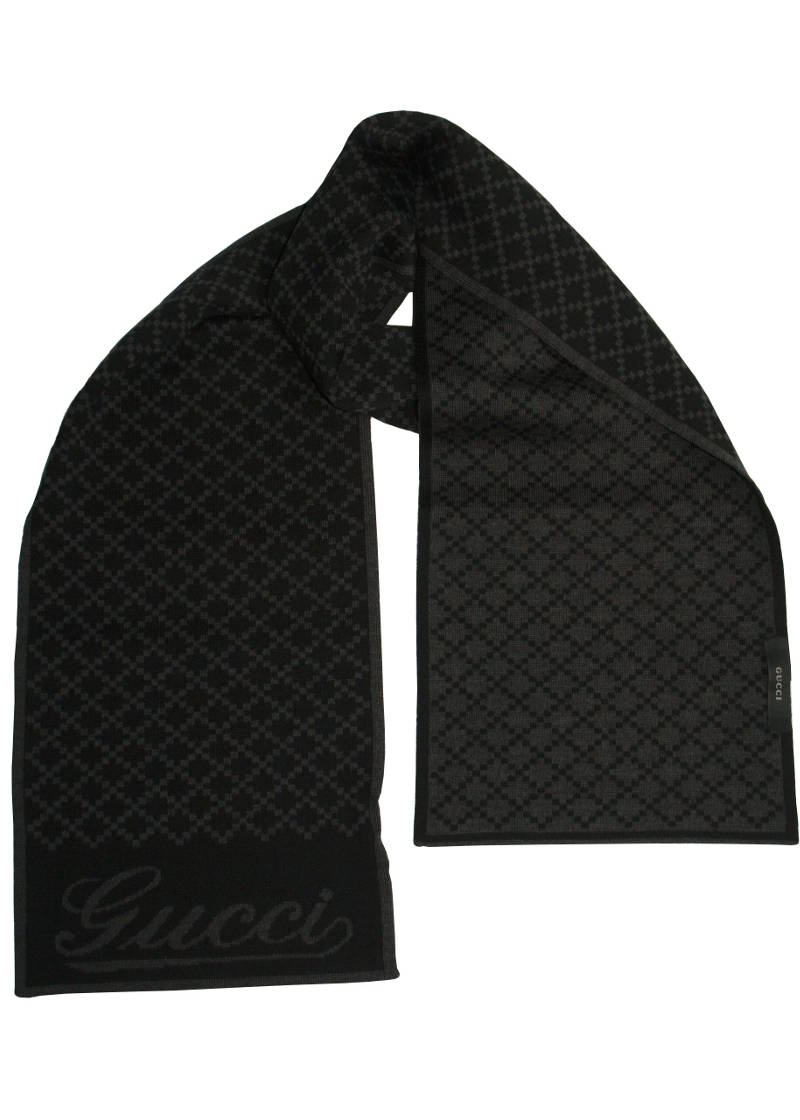 Gucci Black Scarf 100 Wool Cuccalofferta