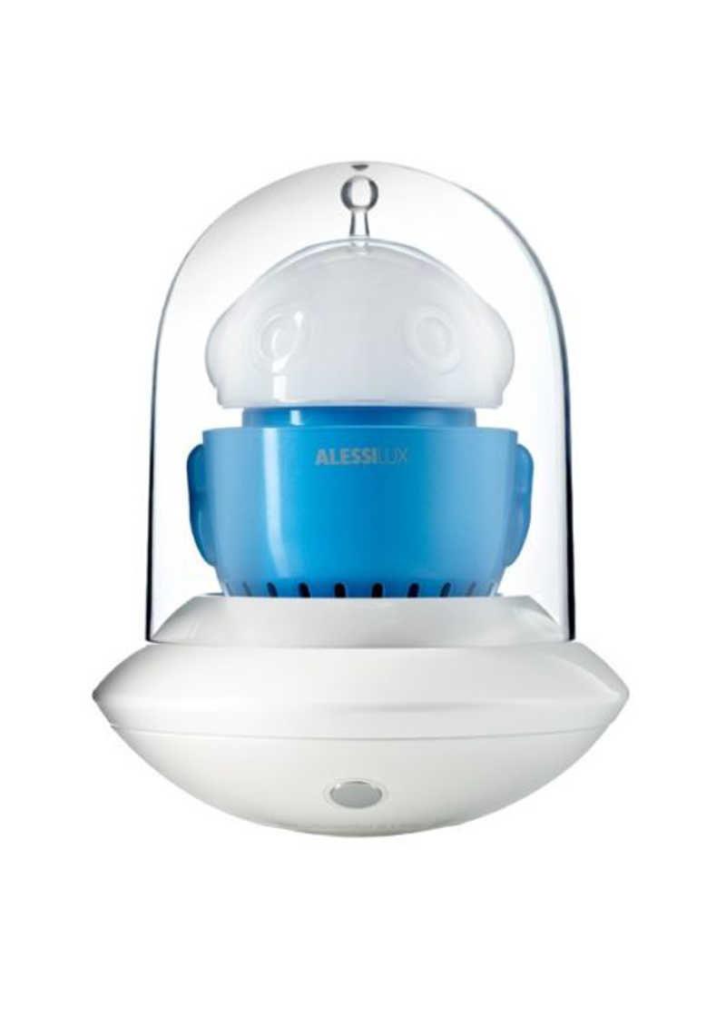 Alessi Ufo Portable Table Lamp White Blue