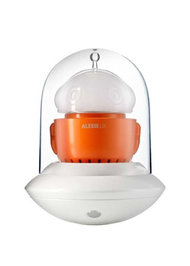 Alessi Ufo Portable Table Lamp White Orange