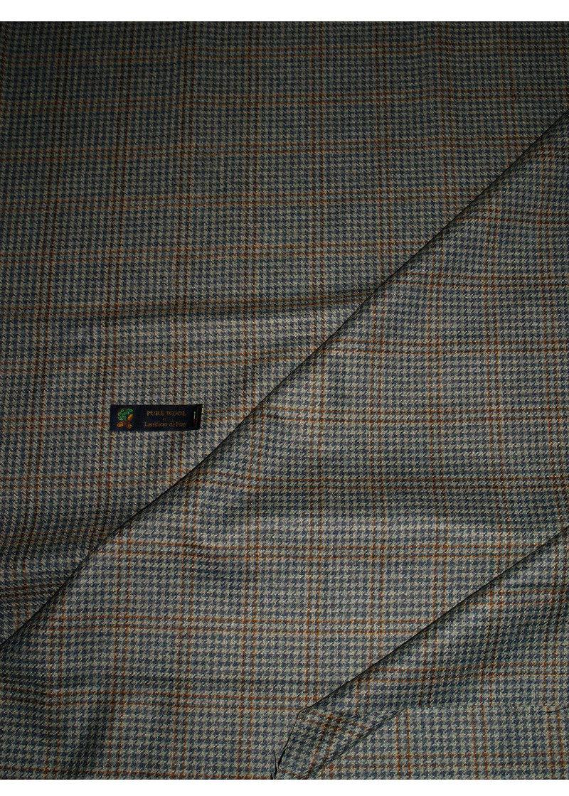Fabric Blue Pure Wool